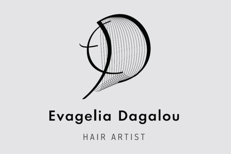 Hair salon logo and business card design