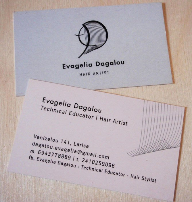 Logo, business card and inscription design